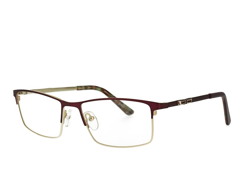 Rectangel womans stainless steel eyeglasses frame