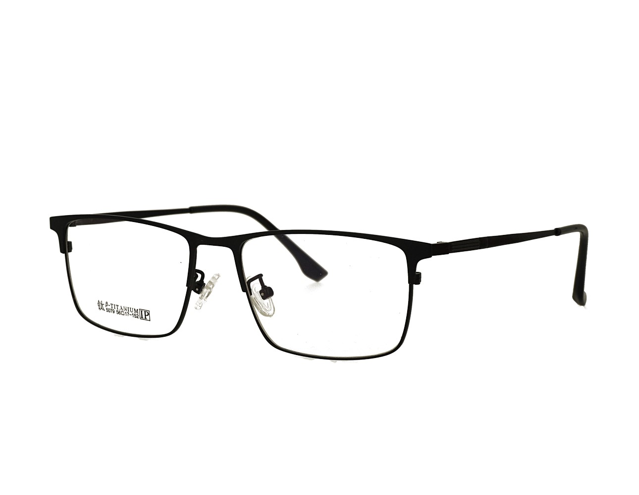 56 Size Rectangle Designer Optical frame Stainless Steal Eyeglasses Mans Eyewear