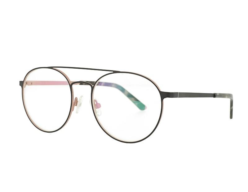 Retro Double bridge Stainless Steel Optical Glasses