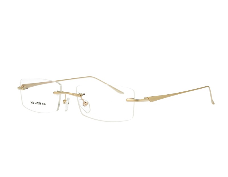 Rimless man's metal Optical frame Eyewear