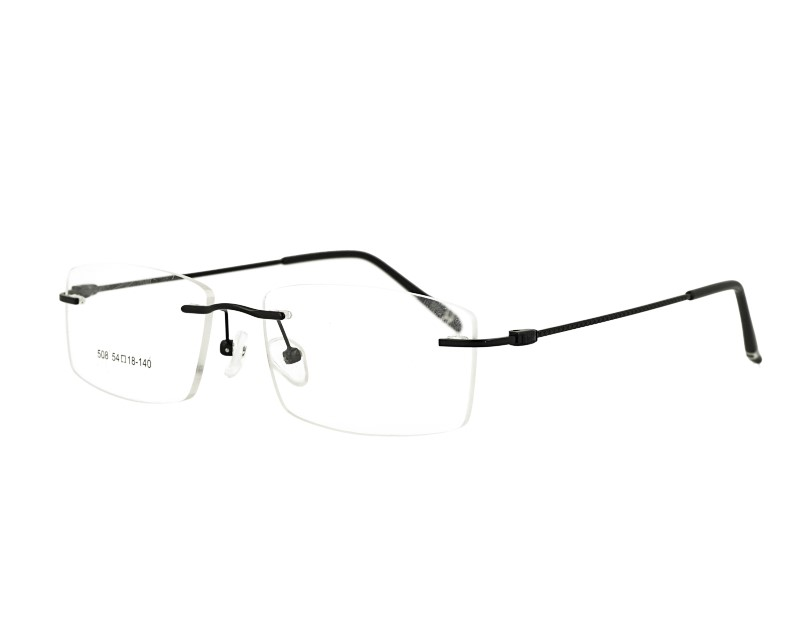Rimless man's metal Optical frame Glasses