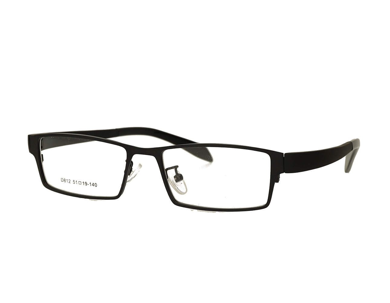 Square Mans designer metal eyewear with TR90 temples