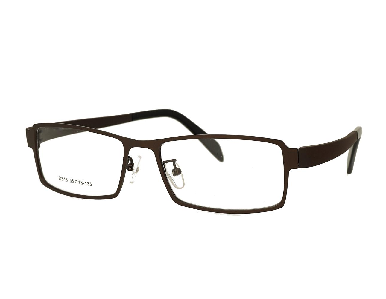 Square Mans designer metal eyewear with TR90 temples