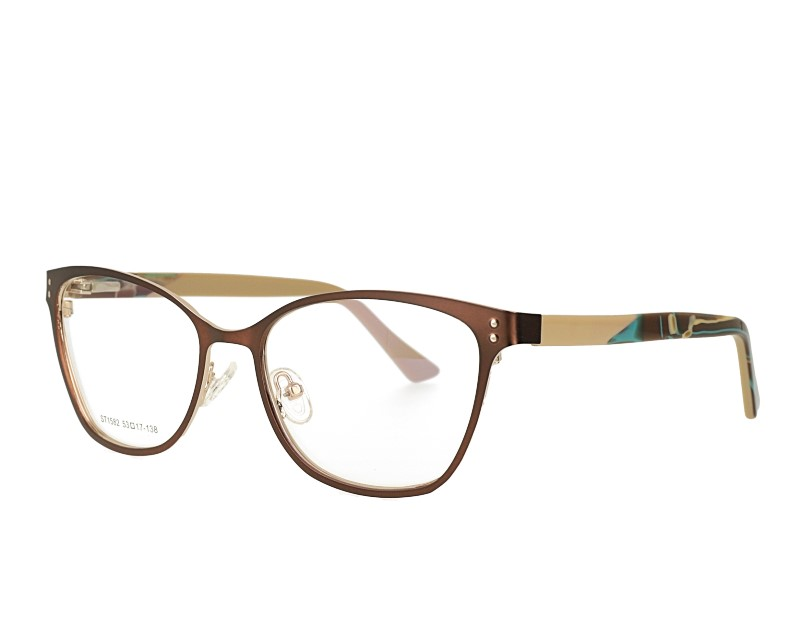 Stainless Steal Cat Eye Optical Frame With Spring Hinge