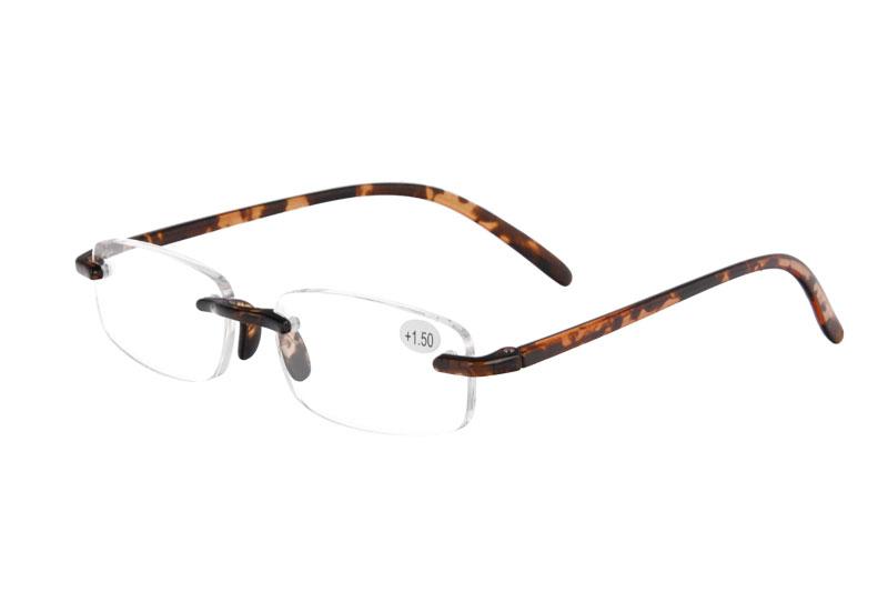 TR90 Rimless Reading Glasses Retro Ultra-light Reading Eyewear
