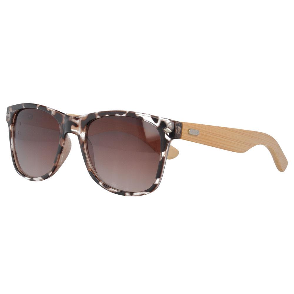 UV400 Wayfarer Sunglasses with bamboo Temples