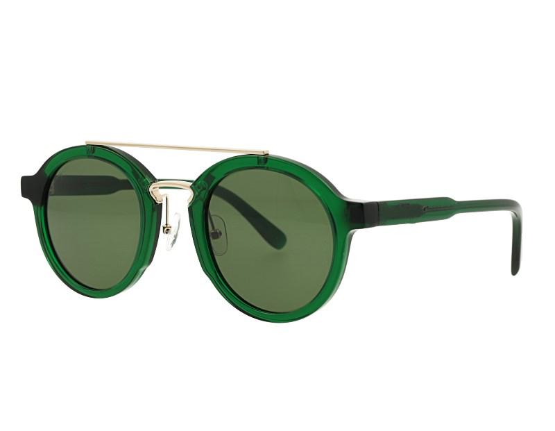 Unisex Double Bridge Acetate And Metal Combination UV400 Polarized Sunglasses