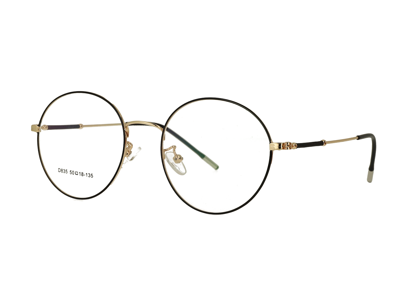 Unisex full rim Retro round metal optical Frame