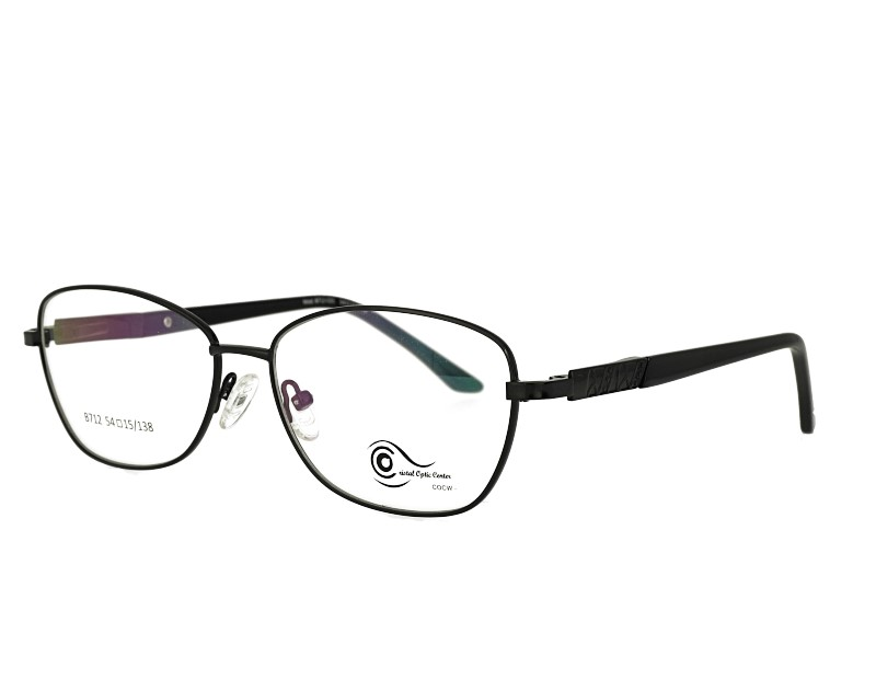 Unisex full rim stainless steel  metal eyeglasses