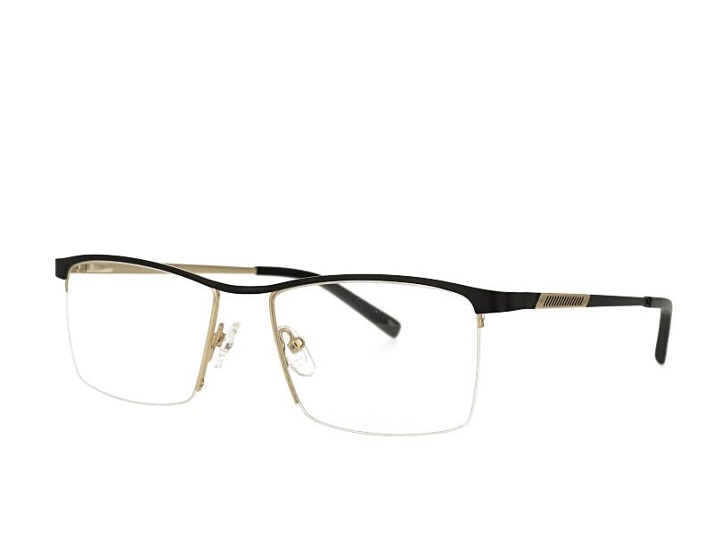 Unisex half rim designer metal  eyewear glasses