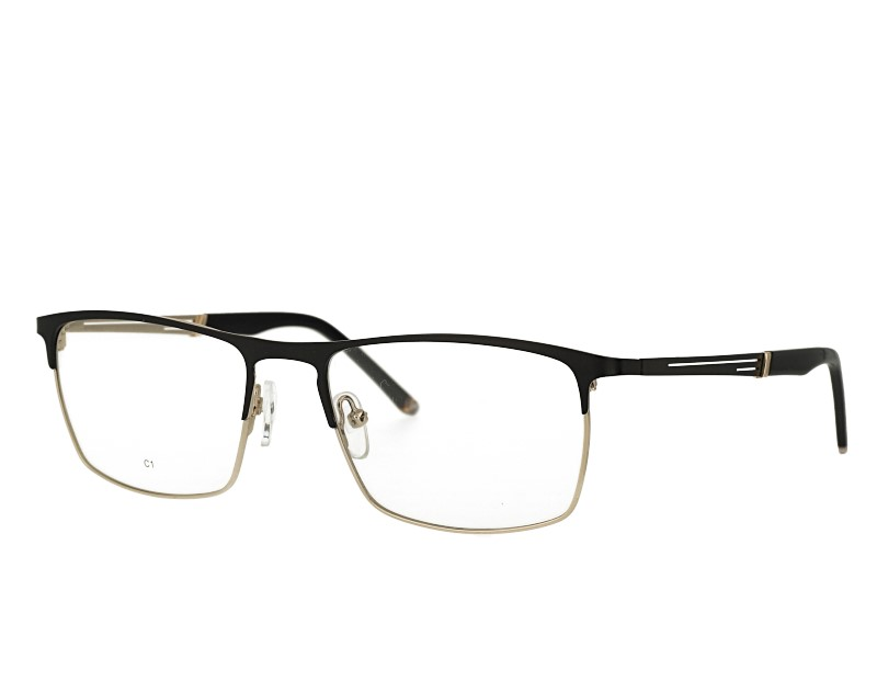 Unisex rectangel stainless steel eyeglasses