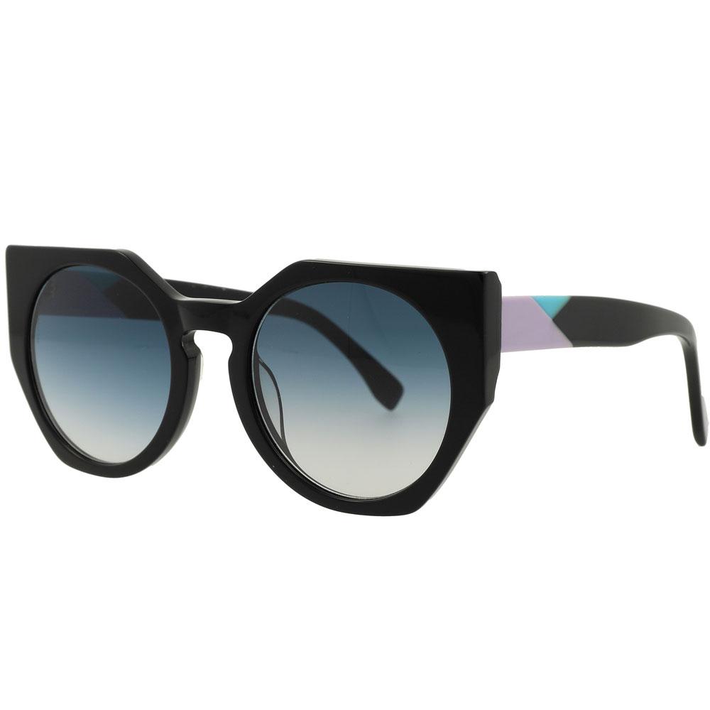 Womans Designer Cat Eye Acetate UV400 Polarized Sunglasses