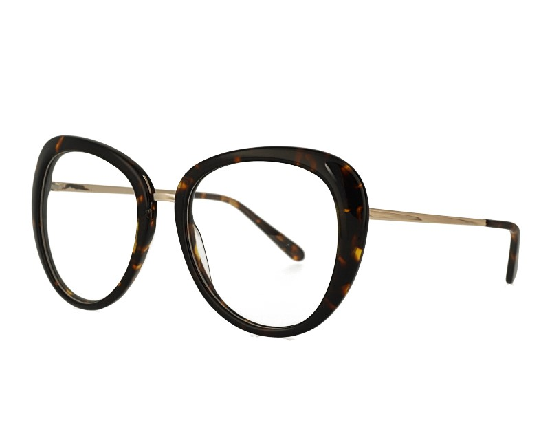 Womans Round acetate and metal combination eyewear glasses