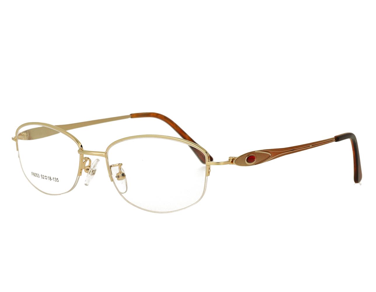 Woman's half rim Metal Frame Optical Glasses