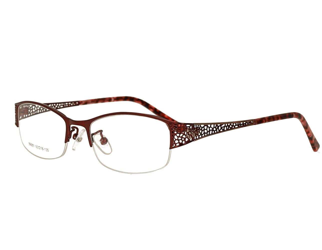 Woman's half rim Metal eyewear hollowing design Optical Frame