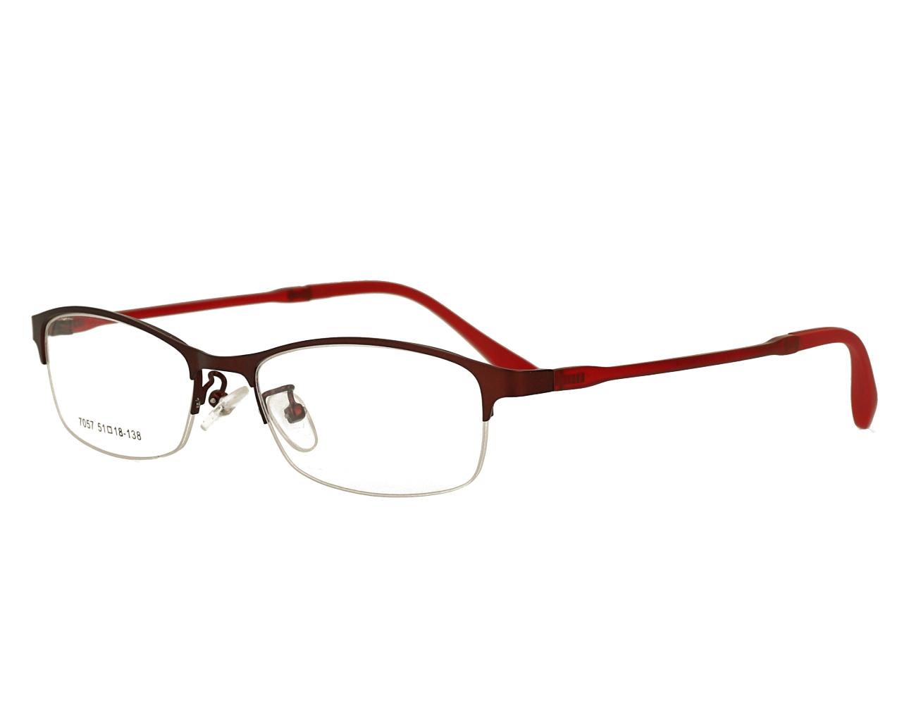 Woman's half rim man's Metal eyewear Optical Frame