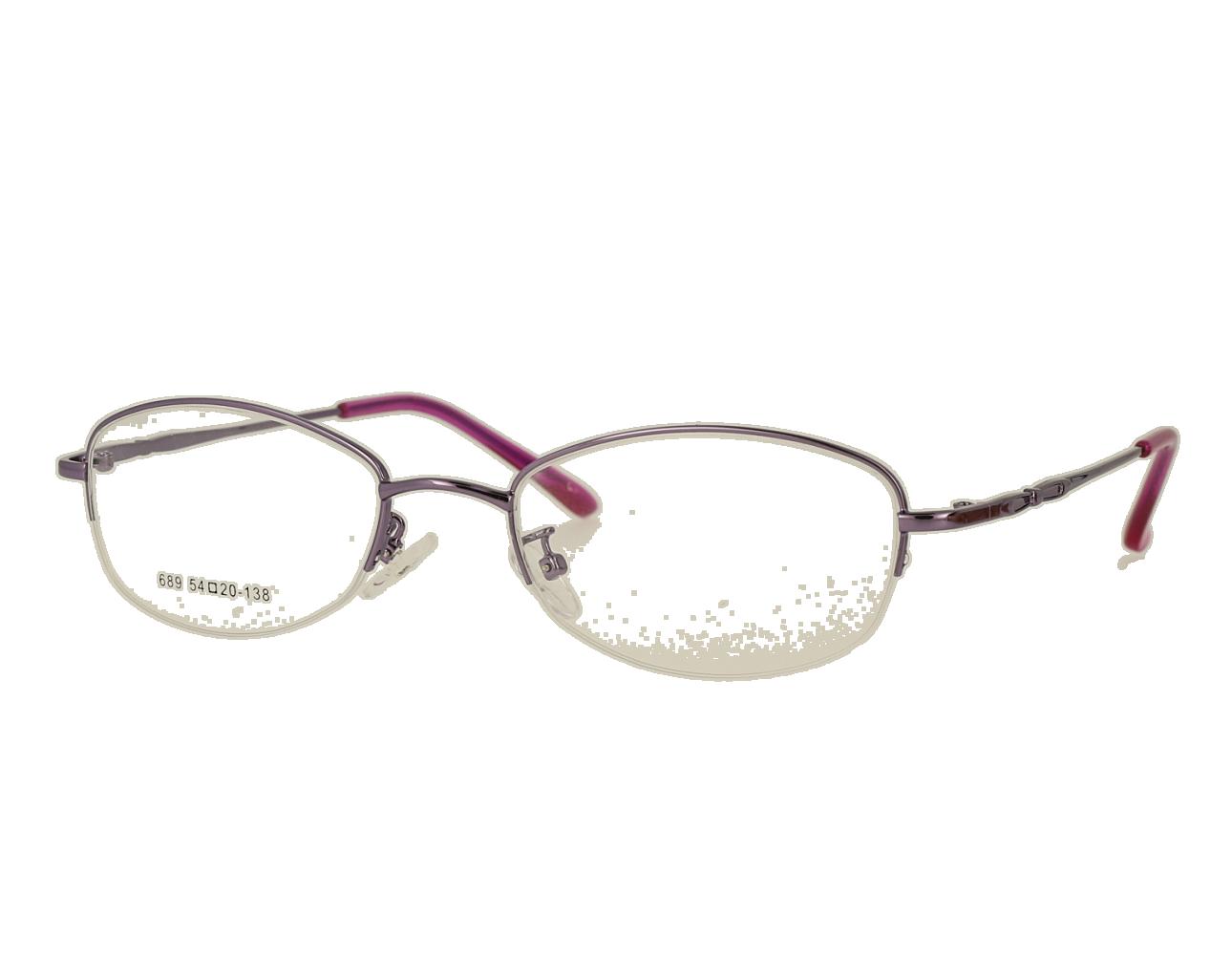 Woman's oval half rim Classic optical Frame