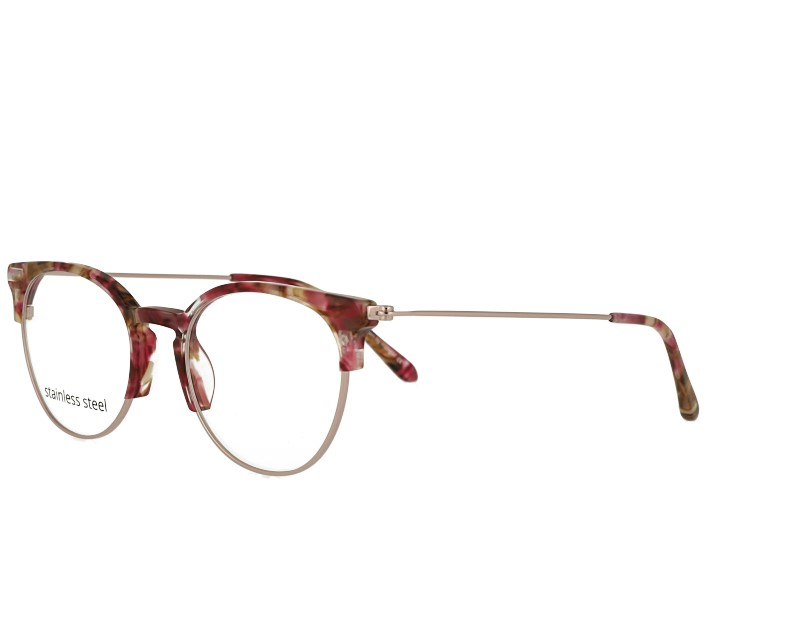 Vintage slim unisex acetate and metal combination prescription spectacles
