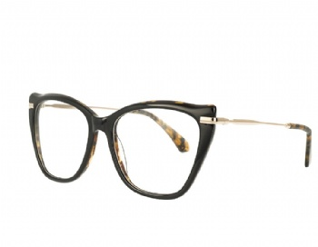 Cat eye Acetate and stainless steel combination eyeglasses eyewear