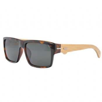 Rectangle Plastic Sunglasses with bamboo Temples