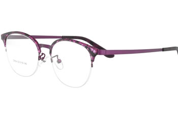Acetate frames with superlasticity metal temple eyewear