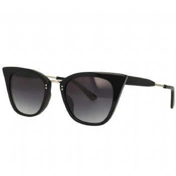 Cat eye Acetate Metal Combination Sunglasses