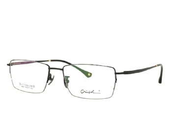 Man's Rectangle Full Rim Vintage Double Color Pure Titanium Optical Frame