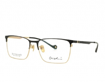 Man's Rectangle Full Riml Double Color Pure Titanium Optical Frame
