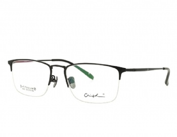 Man's Rectangle Half Rim Vintage Double Color Pure Titanium Optical Frame