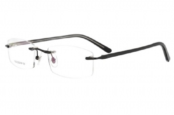 Metal rimless prescription spectacles RX optical frames eyeglasses eyewear