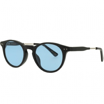 Oval Acetate Metal Combination Sunglasses