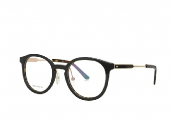 Oval Acetate Optical Eyewear Metal Temple