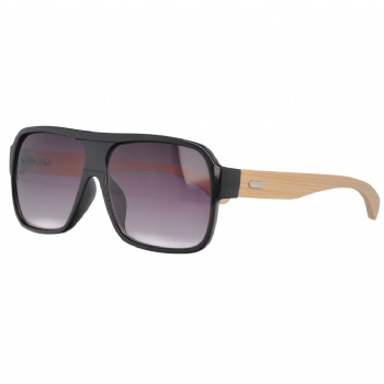 Pilot Plastic Sunglasses with bamboo Temples