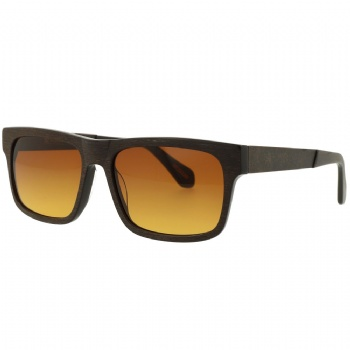 Rectangel Acetate Front Metal temple Sunglasses