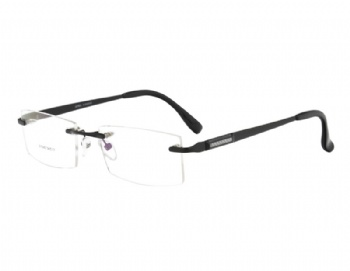 Rimless Designer man's metal Optical frame Glasses