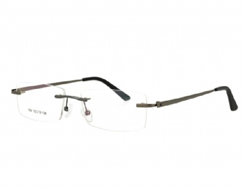 Rimless man's design metal Optical frame Eyewear