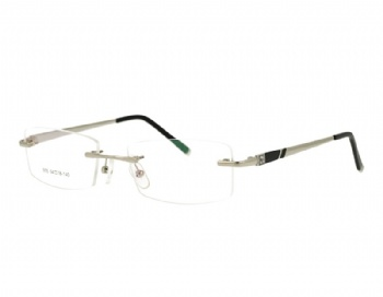 Rimless man's metal Optical frame Eyewear with crystal