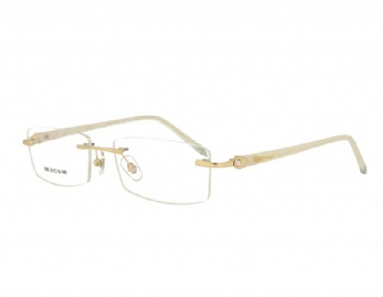 Rimless woman's metal Optical frame Eyewear with crystal acetate temples