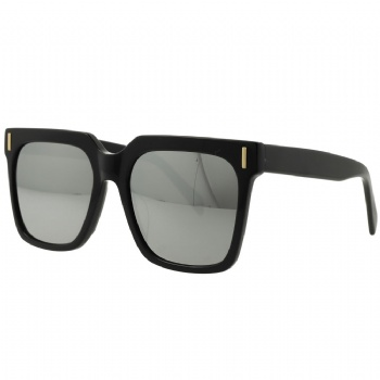 Square Bold Unisex Acetate Frame with CR39 mirror Lens Sunglasses