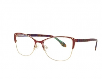 Stainless Steel Cat Eye Optical Glasses Acetate Temples
