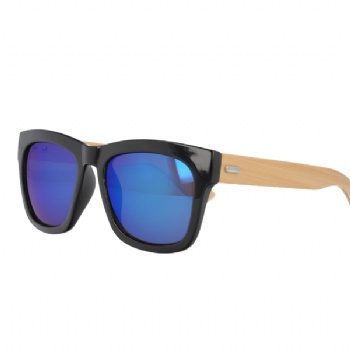 UV400 Slim Sunglasses with bamboo Temples