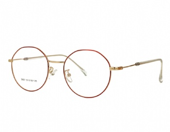 Unisex full rim Retro polygon metal optical Frame