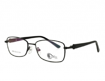 Unisex rectanglel stainless steel  metal eyeglasses