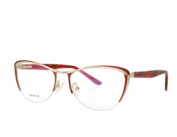 Woman Half Rim Cat Eye Metal Optical frames