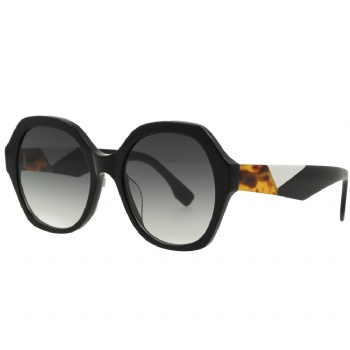 Womans Hexagon Designer Acetate Frame with CR39 Lens Sunglasses