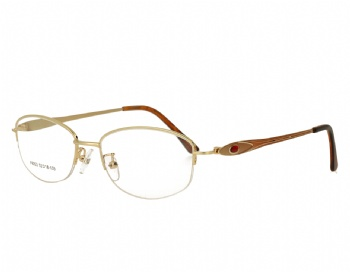 Woman's half rim Metal Frame Optical Glasses