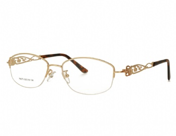Woman's half rim Metal Frame hollowing design Optical Glasses