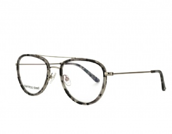 Aviator double bridge acetate andstainless steel mix optical frames eyewear